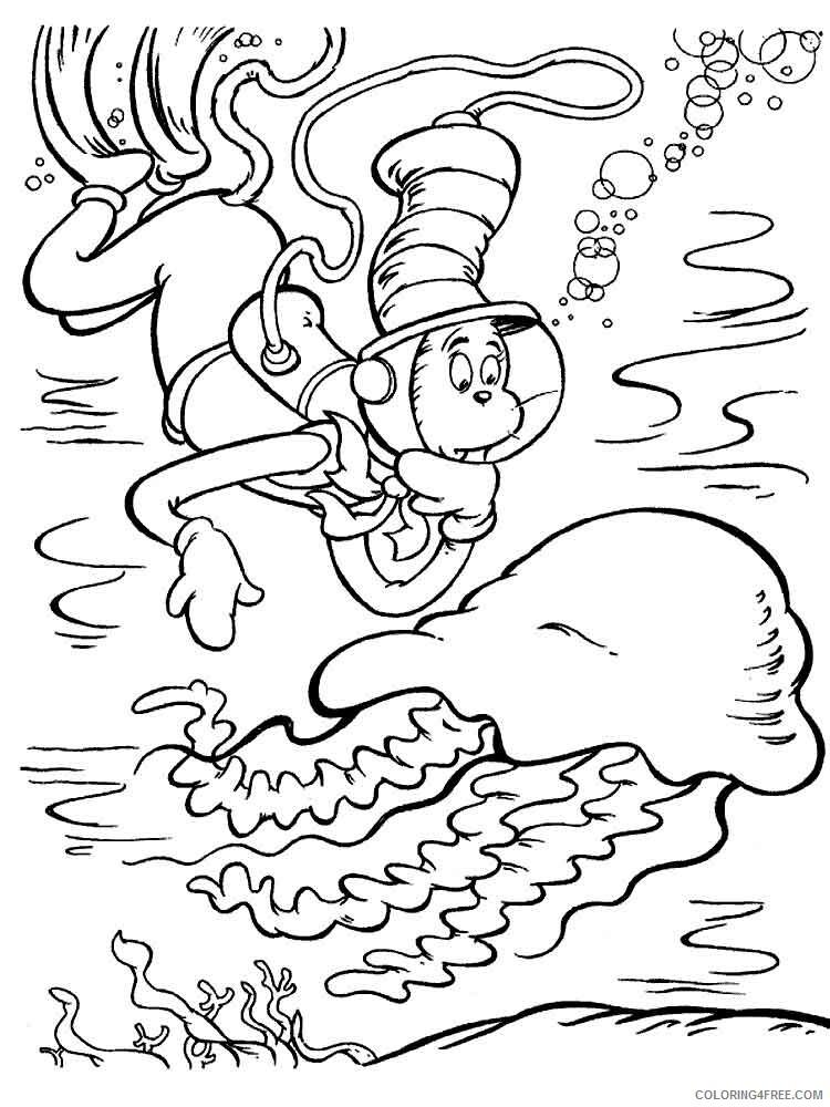 Dr Seuss Coloring Pages dr seuss 5 Printable 2021 2072 Coloring4free