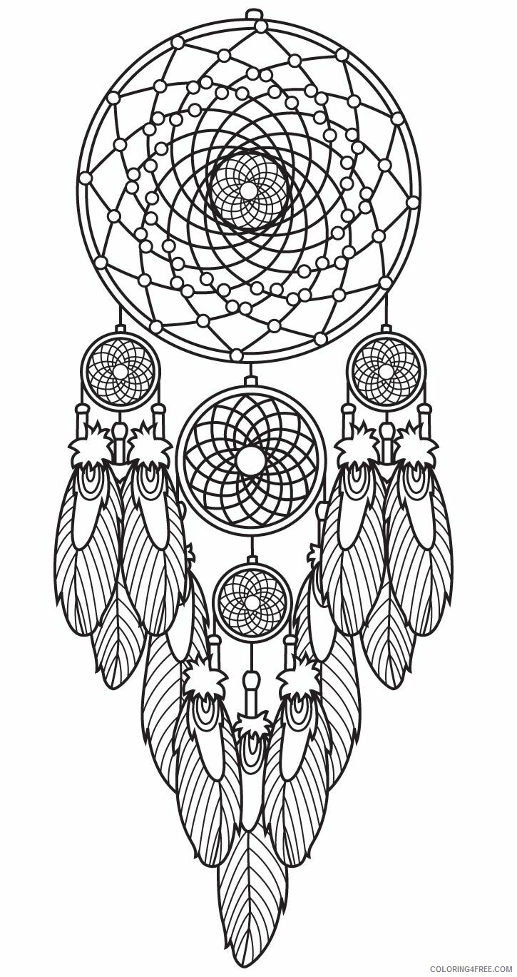 Dream Catcher Coloring Pages Dream Catcher Printable 2021 2078 Coloring4free