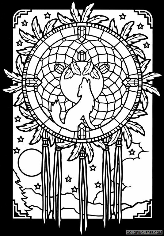Dream Catcher Coloring Pages Dream Catcher Printable 2021 2081 Coloring4free