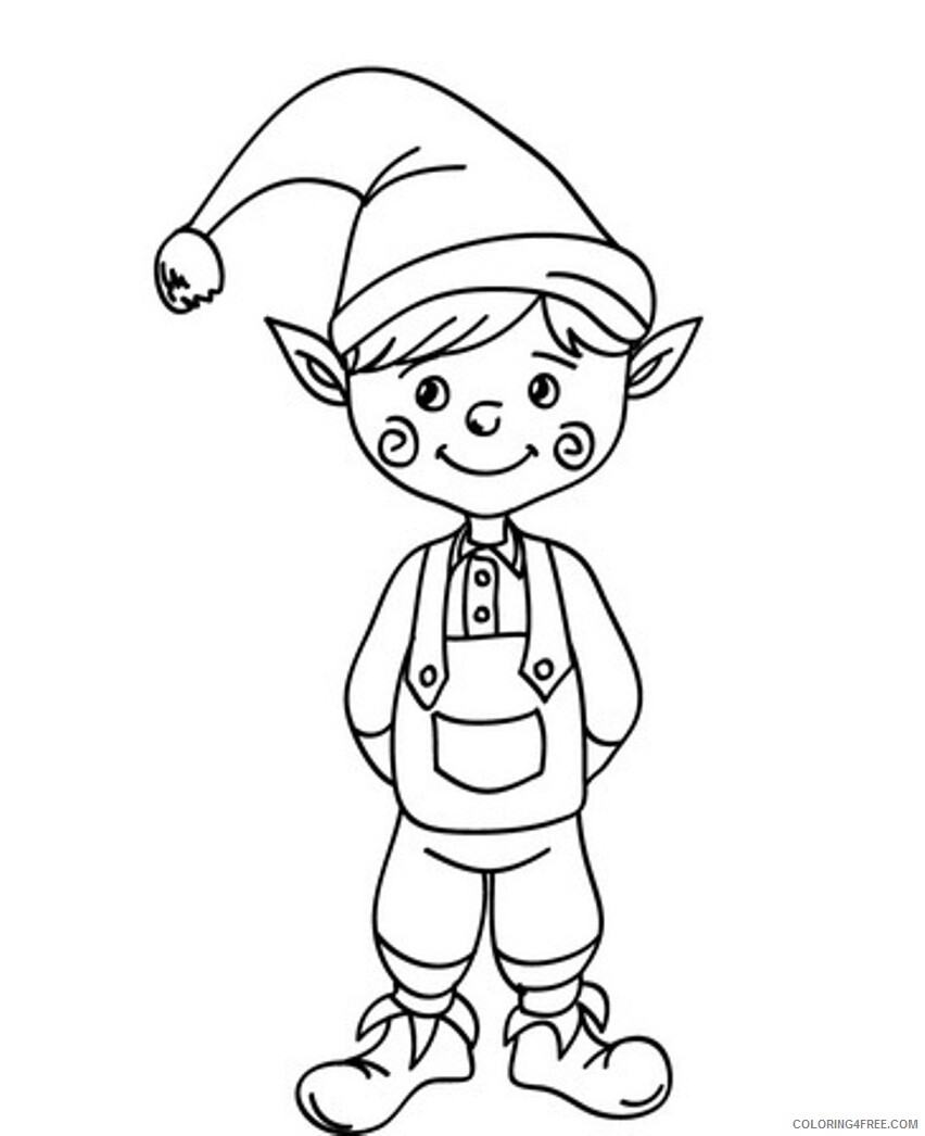 Elf Coloring Pages Elf for Kids Printable 2021 2105 Coloring4free