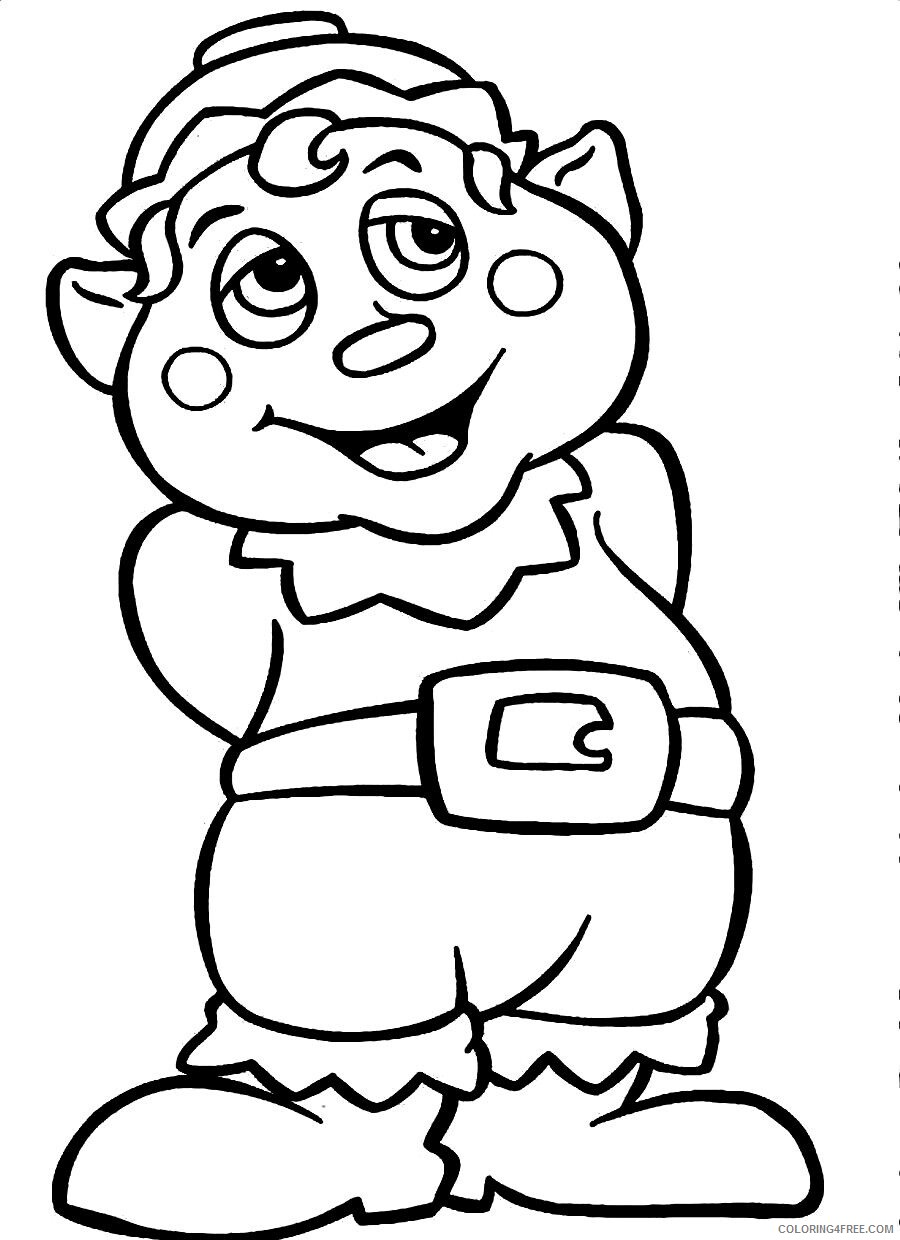 Elf Coloring Pages Elf to Print Printable 2021 2106 Coloring4free