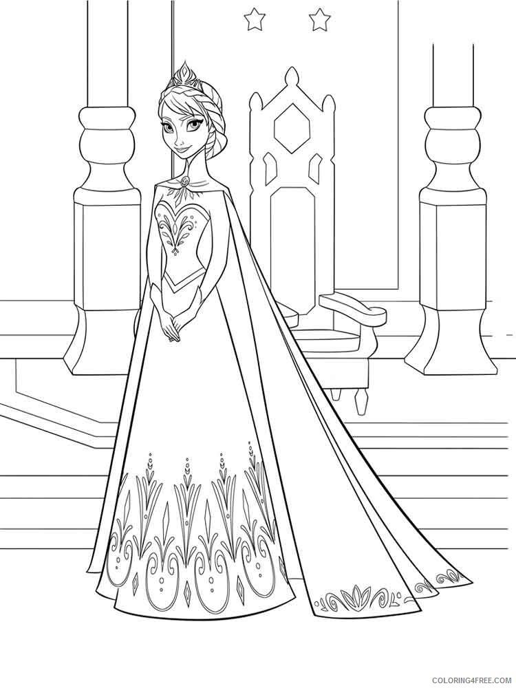 Elsa Coloring Pages Elsa 10 Printable 2021 2119 Coloring4free