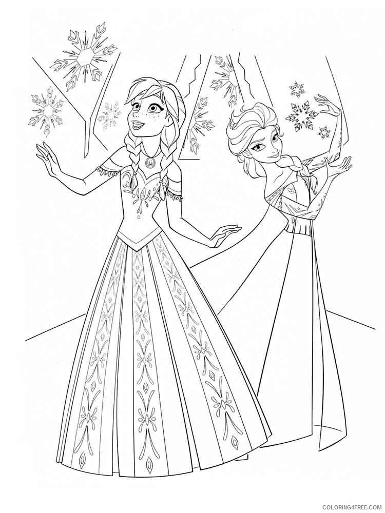 Elsa Coloring Pages Elsa 8 Printable 2021 2124 Coloring4free