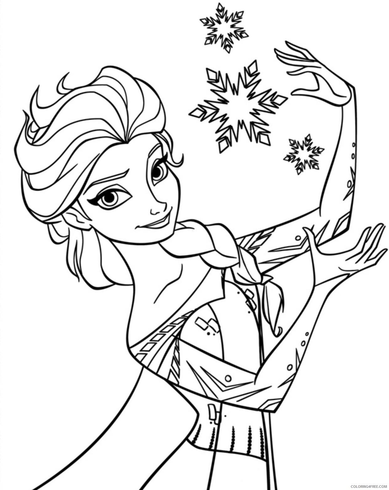Elsa Coloring Pages Elsa Printable 2021 2117 Coloring4free