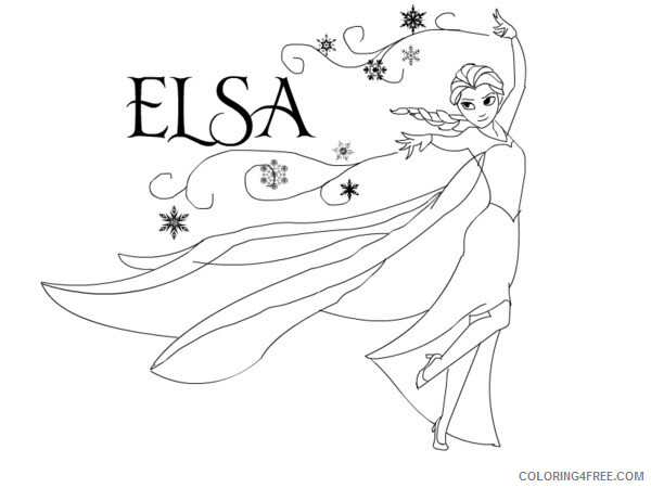 Elsa Coloring Pages Elsa Sheets Printable 2021 2125 Coloring4free