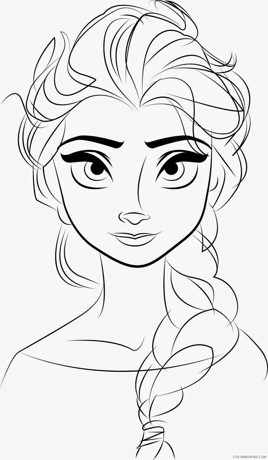 Elsa Coloring Pages Free Elsa Printable 2021 2133 Coloring4free