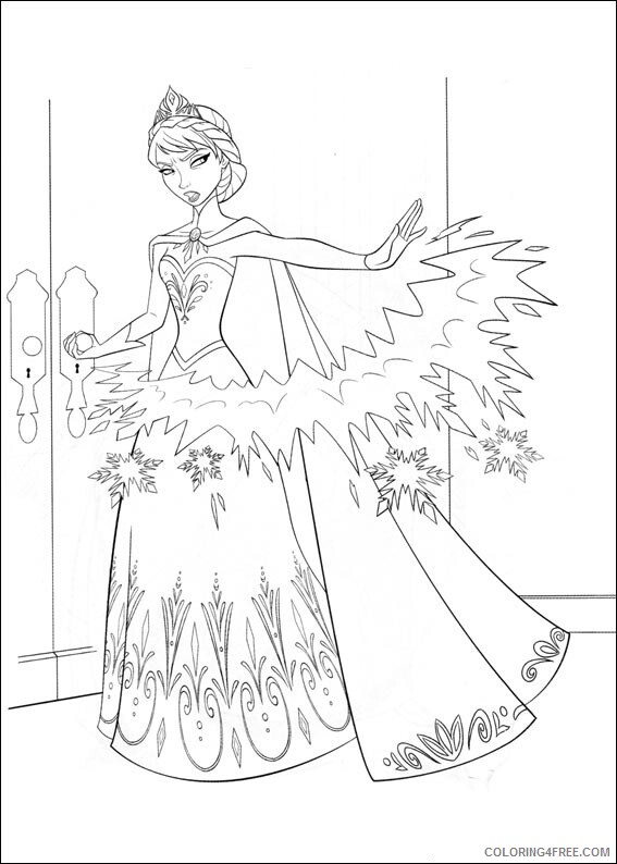 Elsa Coloring Pages angry elsa Printable 2021 2108 Coloring4free