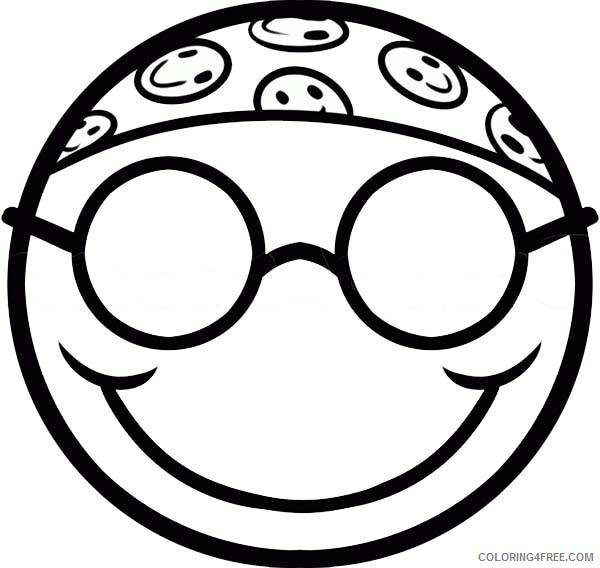 Emoji Coloring Pages Emoji 60s Printable 2021 2176 Coloring4free