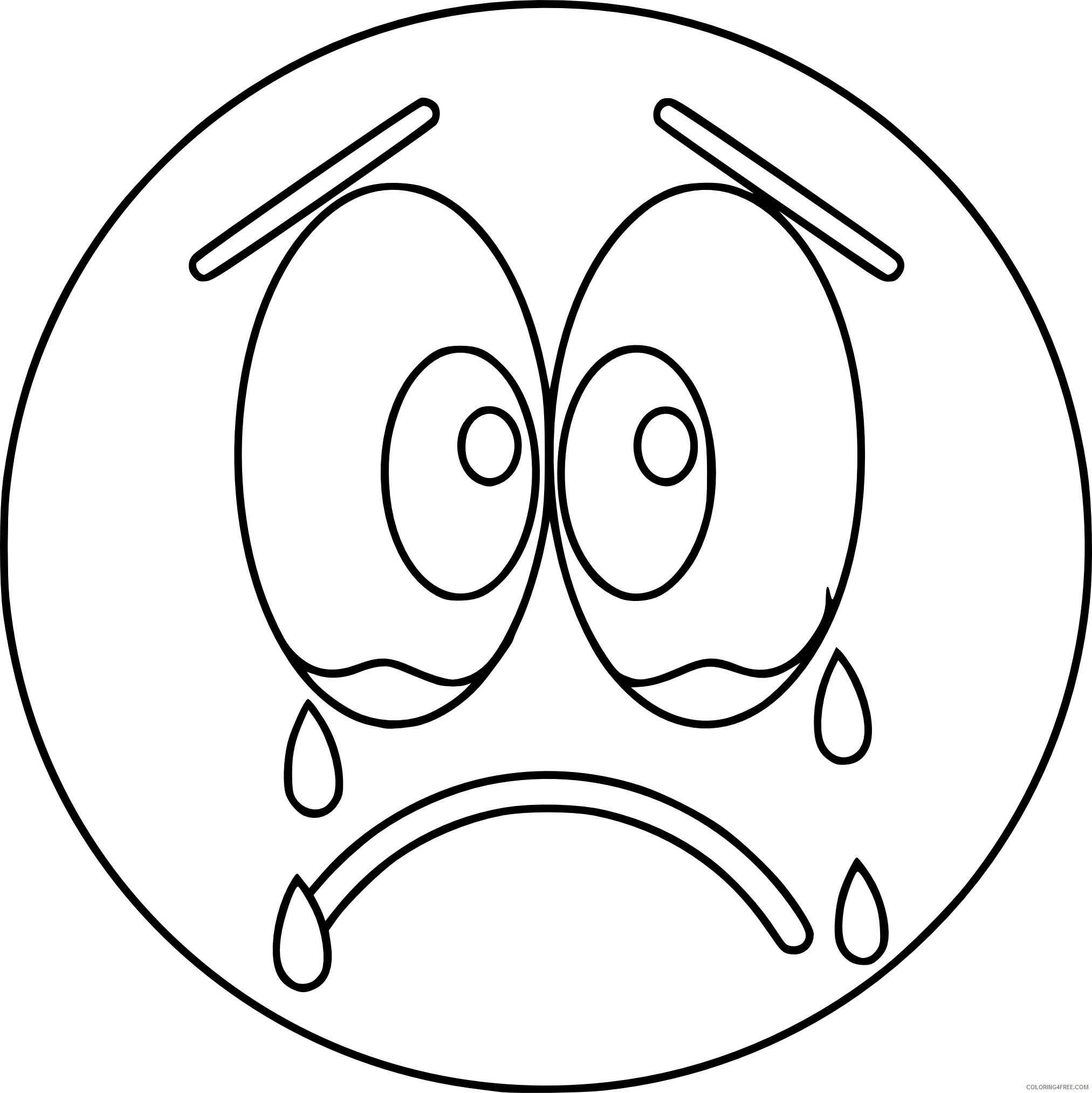 Emoji Coloring Pages Emoji Crying Tears Printable 2021 2184 Coloring4free