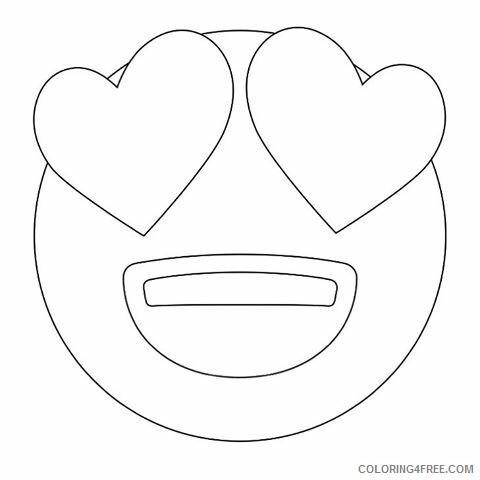 Emoji Coloring Pages Emoji Love Printable 2021 2195 Coloring4free
