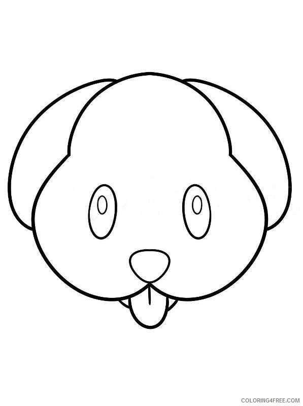 Emoji Coloring Pages Emoji Puppy Printable 2021 2198 Coloring4free
