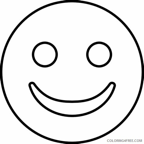 Emoji Coloring Pages Emoji Smile Printable 2021 2200 Coloring4free