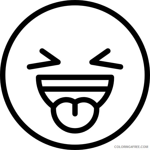Emoji Coloring Pages Emoji Sticking out Tongue Printable 2021 2202 Coloring4free