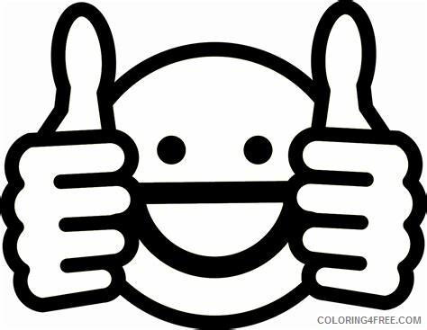 Emoji Coloring Pages Emoji Thumbs Up Printable 2021 2206 Coloring4free