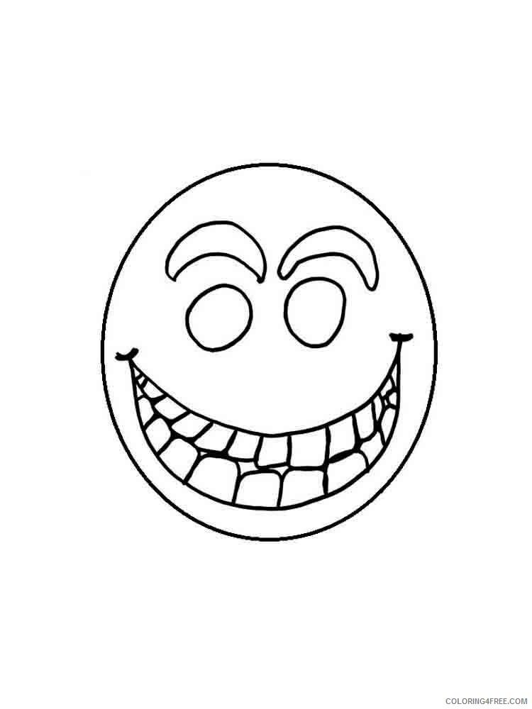 Emoji Coloring Pages Emojis 10 Printable 2021 2212 Coloring4free