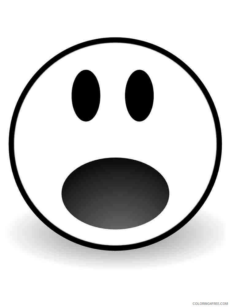 Emoji Coloring Pages Emojis 12 Printable 2021 2213 Coloring4free