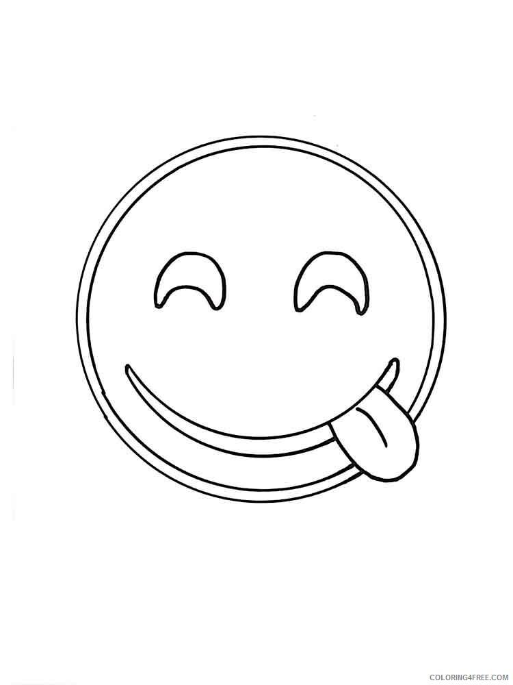Emoji Coloring Pages Emojis 4 Printable 2021 2224 Coloring4free