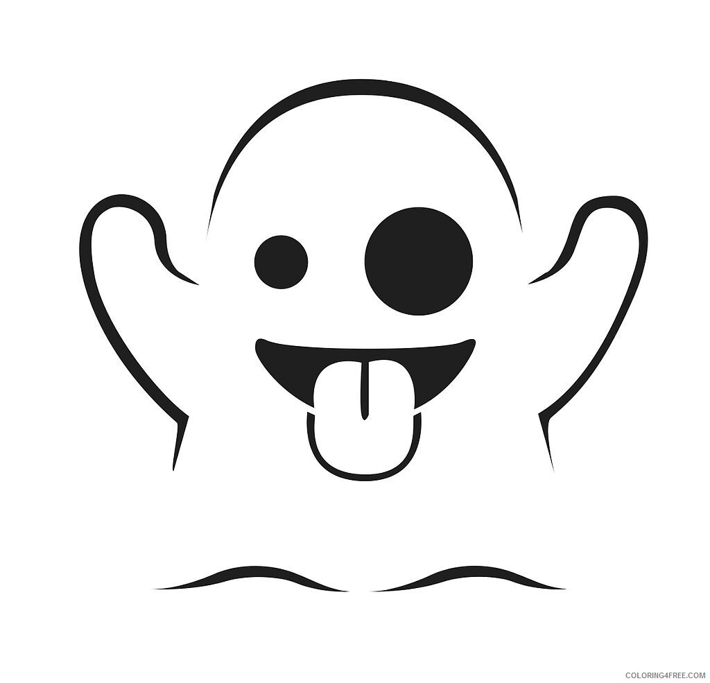 Emoji Coloring Pages Ghost Emoji Printable 2021 2228 Coloring4free