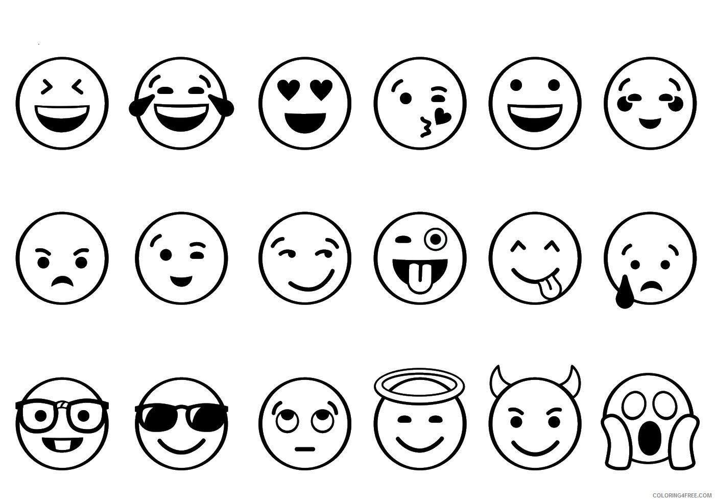 Emoji Coloring Pages emoji5 Printable 2021 2170 Coloring4free