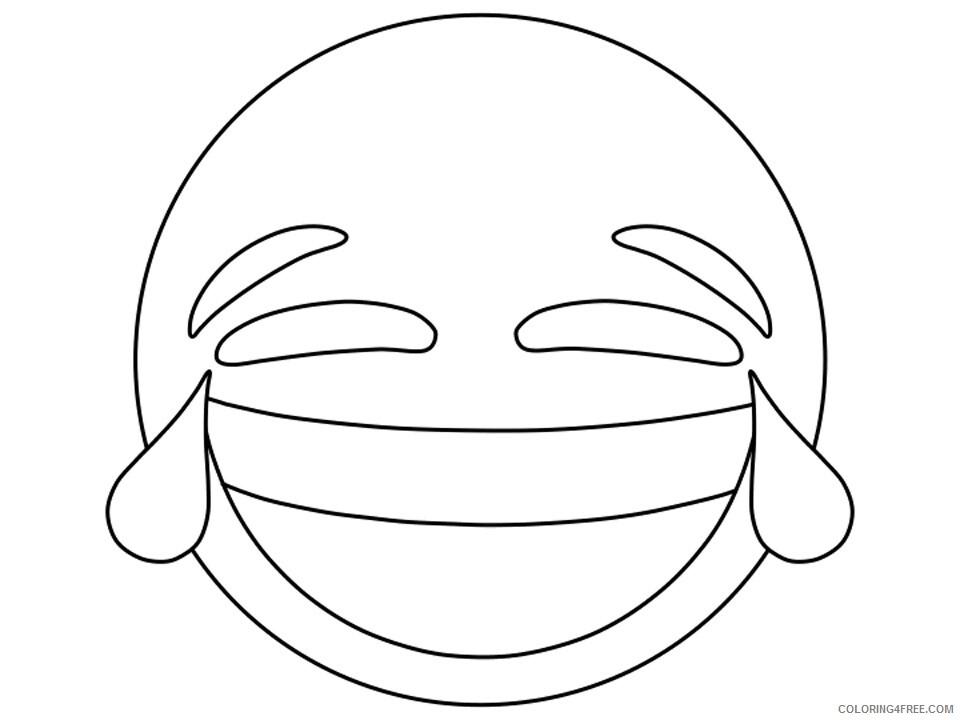 Emoji Coloring Pages laughing Printable 2021 2235 Coloring4free