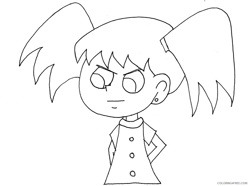 Emotions Coloring Pages girl angry Printable 2021 2276 Coloring4free