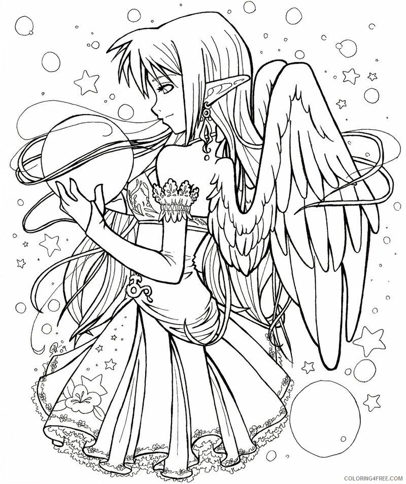 Fairy Coloring Pages Anime Fairy Adult Printable 2021 2305 Coloring4free