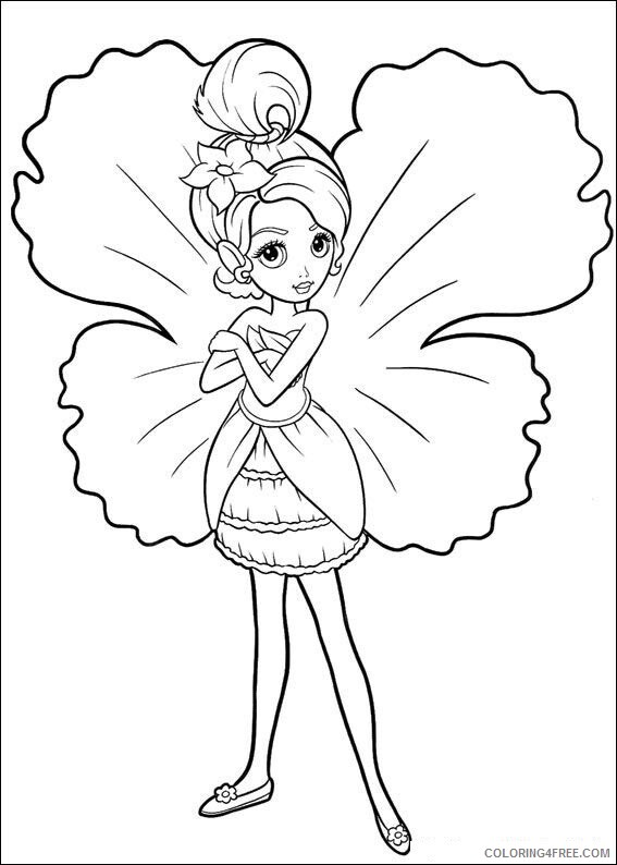 Fairy Coloring Pages Barbie Fairy Printable 2021 2308 Coloring4free