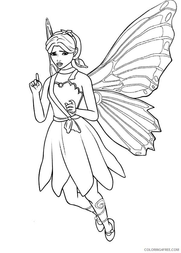 Fairy Coloring Pages Barbie Princess a Fairy Secret Printable 2021 2316 Coloring4free