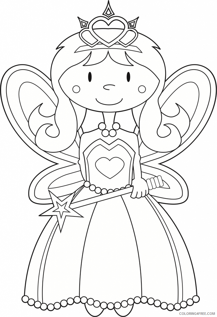 Fairy Coloring Pages Fairy Free Printable 2021 2362 Coloring4free