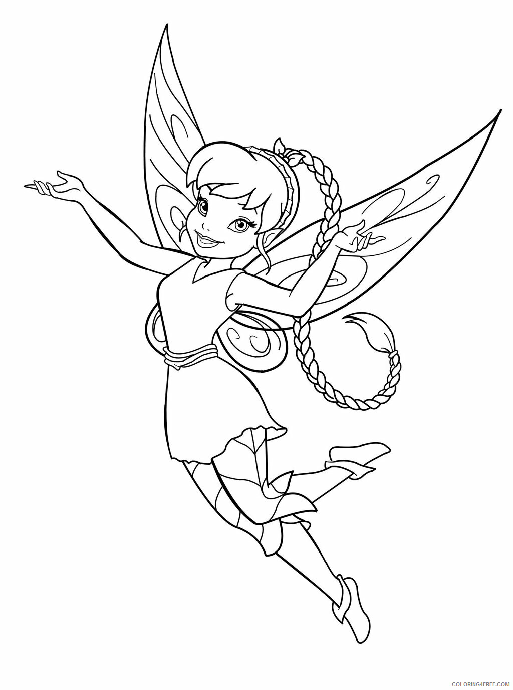 Fairy Coloring Pages Fairy Printable 2021 2319 Coloring4free