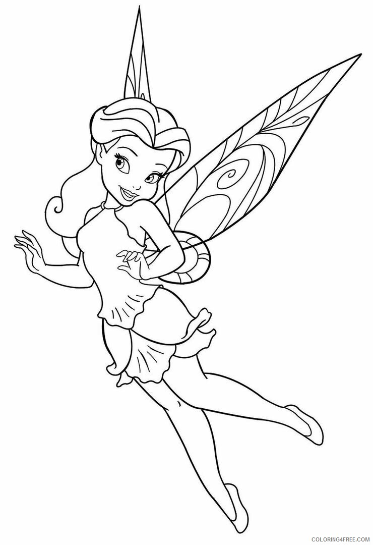 Fairy Coloring Pages Fairy to Print Free Printable 2021 2364 Coloring4free