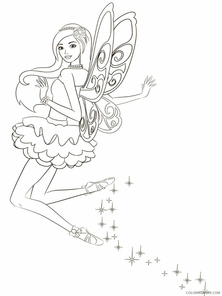 Fairy Coloring Pages barbie fairy 11 Printable 2021 2309 Coloring4free