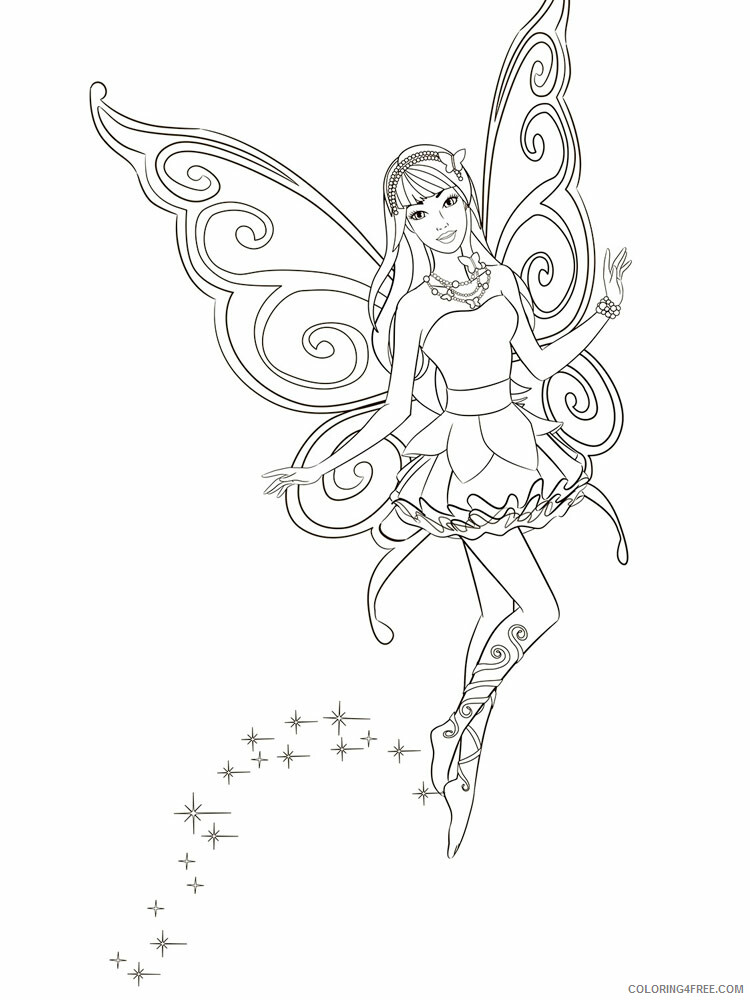 Fairy Coloring Pages barbie fairy 3 Printable 2021 2310 Coloring4free