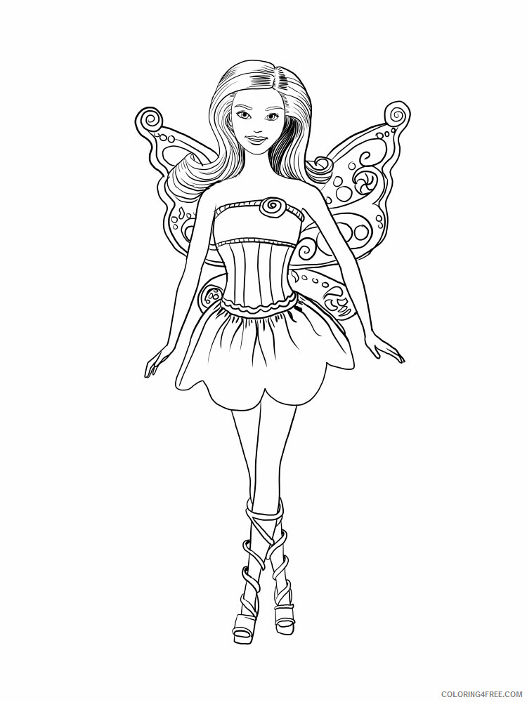 Fairy Coloring Pages barbie fairy 6 Printable 2021 2313 Coloring4free