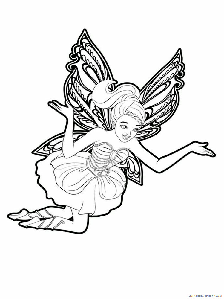 Fairy Coloring Pages barbie fairy 9 Printable 2021 2315 Coloring4free