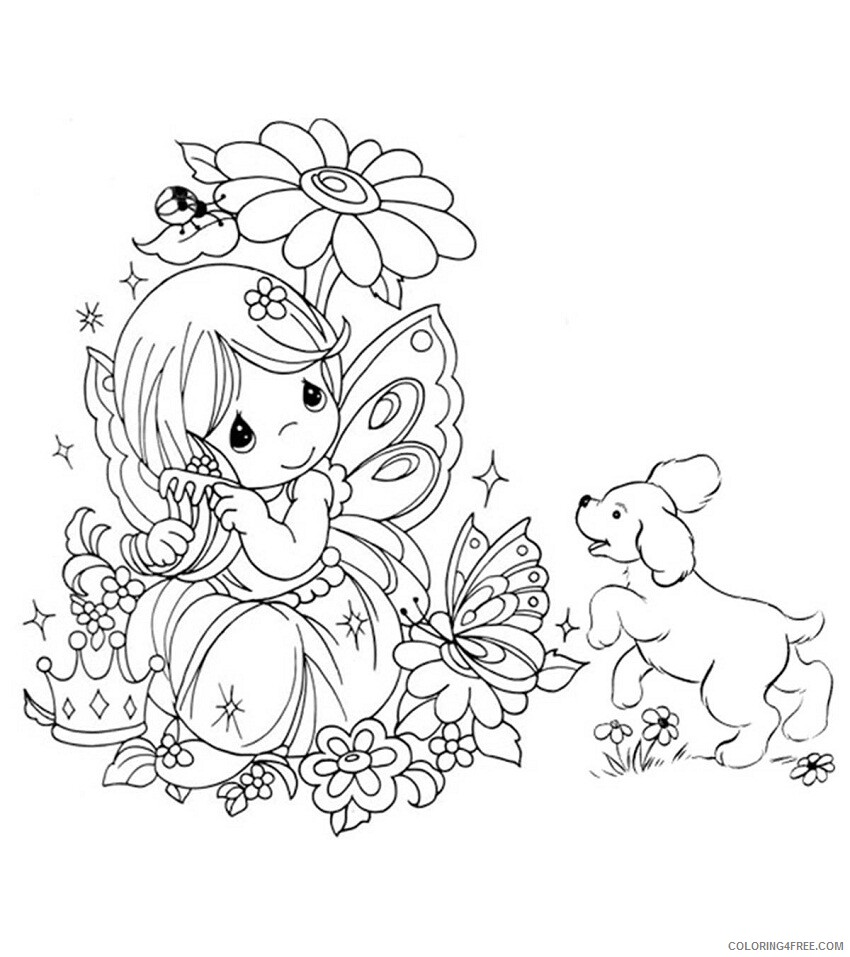 Fairy Coloring Pages beautiful fairy for your little ones 1 Printable 2021 2298 Coloring4free