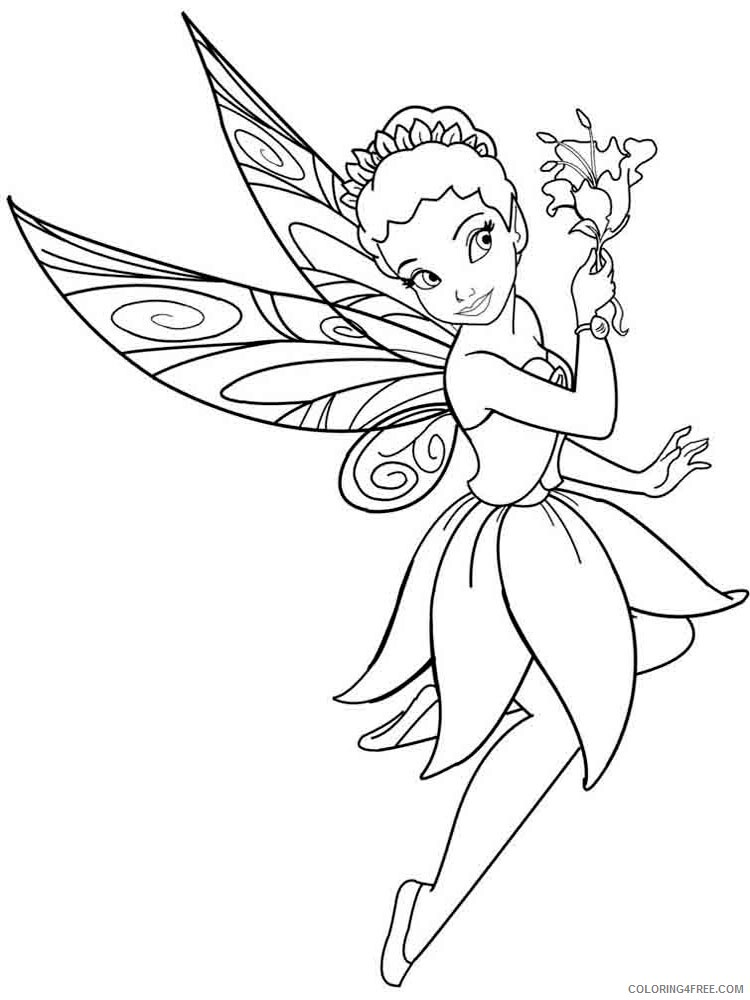 Fairy Coloring Pages fairy 12 Printable 2021 2341 Coloring4free