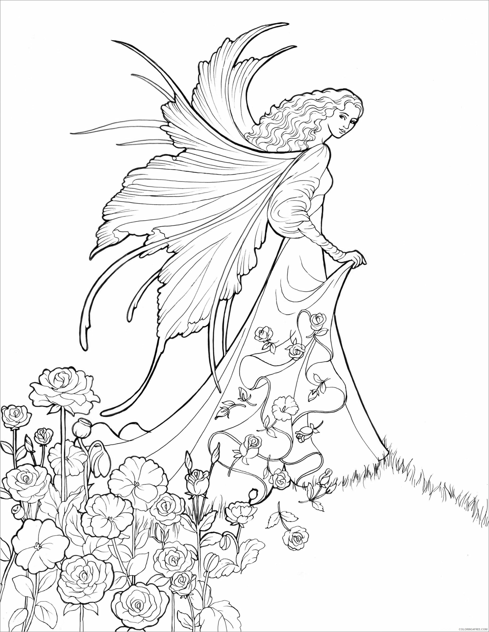 Fairy Coloring Pages fairy for adult Printable 2021 2339 Coloring4free
