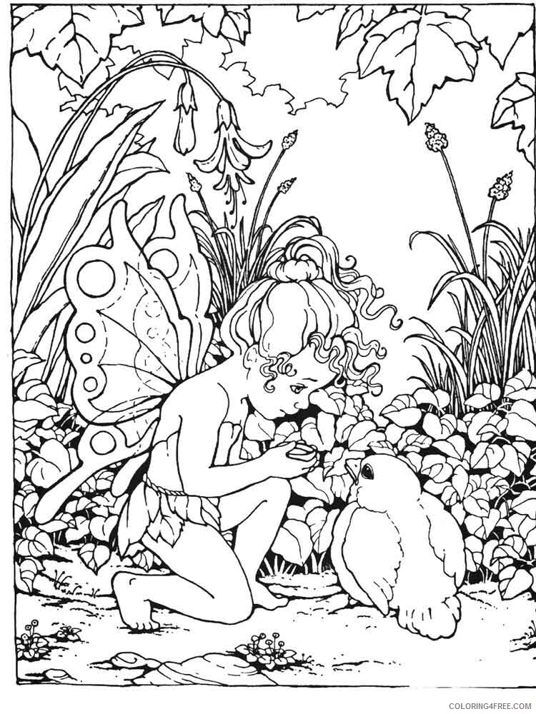 Fairy Coloring Pages fairy for adults 12 Printable 2021 2348 Coloring4free