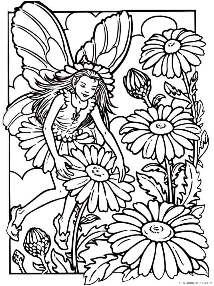 Fairy Coloring Pages fairy for adults 22 Printable 2021 2352 Coloring4free