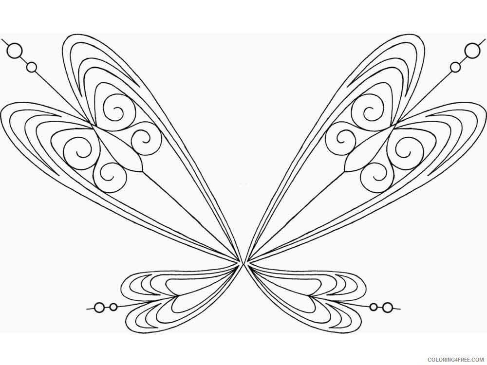 Fairy Coloring Pages fairy wings 11 Printable 2021 2381 Coloring4free