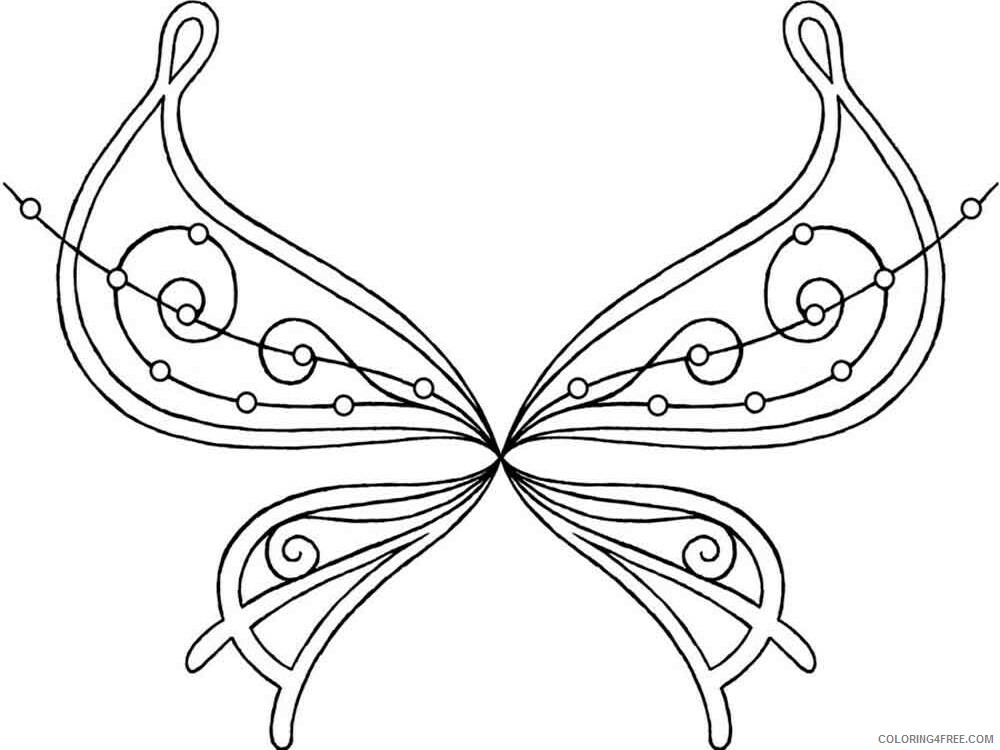 Fairy Coloring Pages fairy wings 3 Printable 2021 2382 Coloring4free