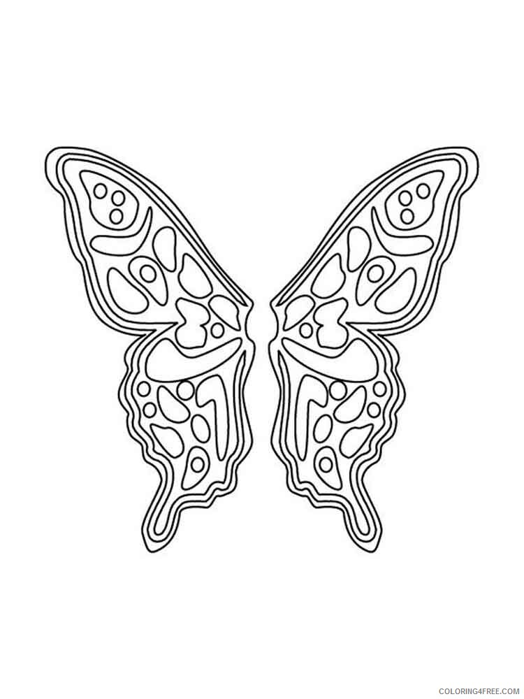 Fairy Coloring Pages fairy wings 4 Printable 2021 2383 Coloring4free