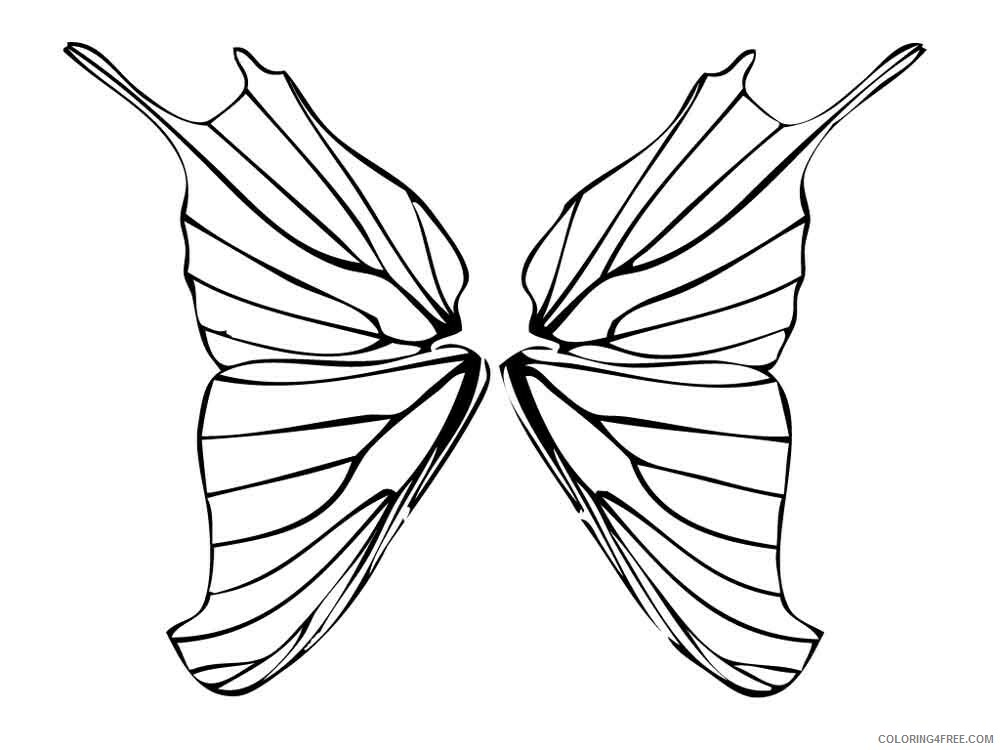 Fairy Coloring Pages fairy wings 8 Printable 2021 2386 Coloring4free