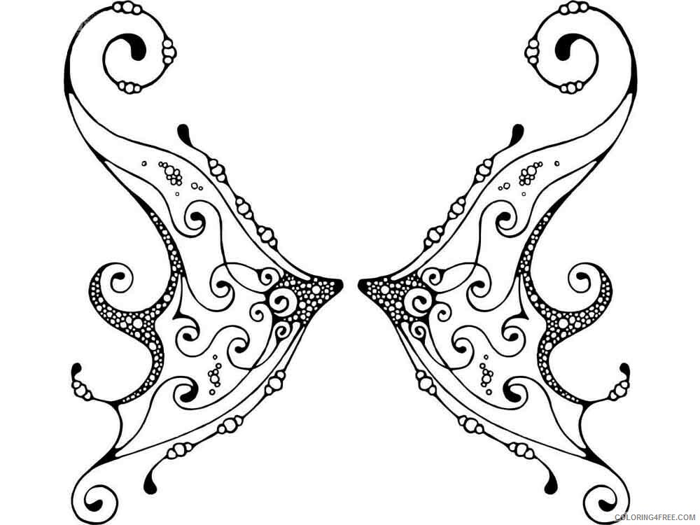 Fairy Coloring Pages fairy wings 9 Printable 2021 2387 Coloring4free