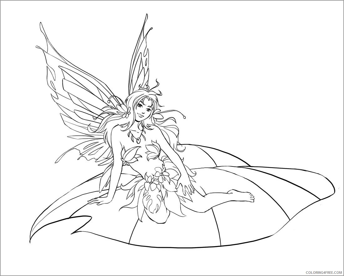 Fairy Coloring Pages printable fairy for kids Printable 2021 2398 Coloring4free