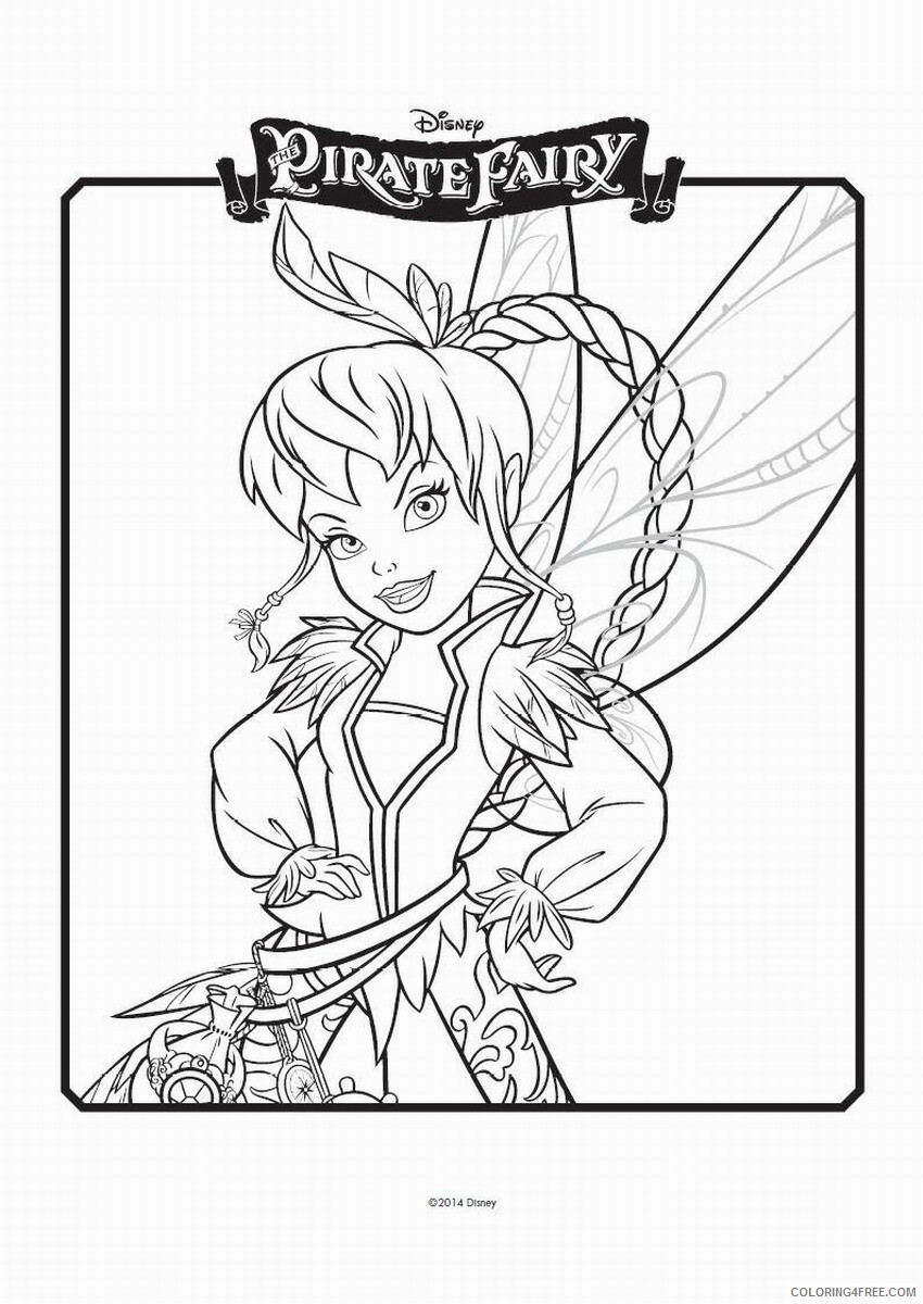 Fairy Coloring Pages the_pirate_fairy_coloring12 Printable 2021 2406 Coloring4free