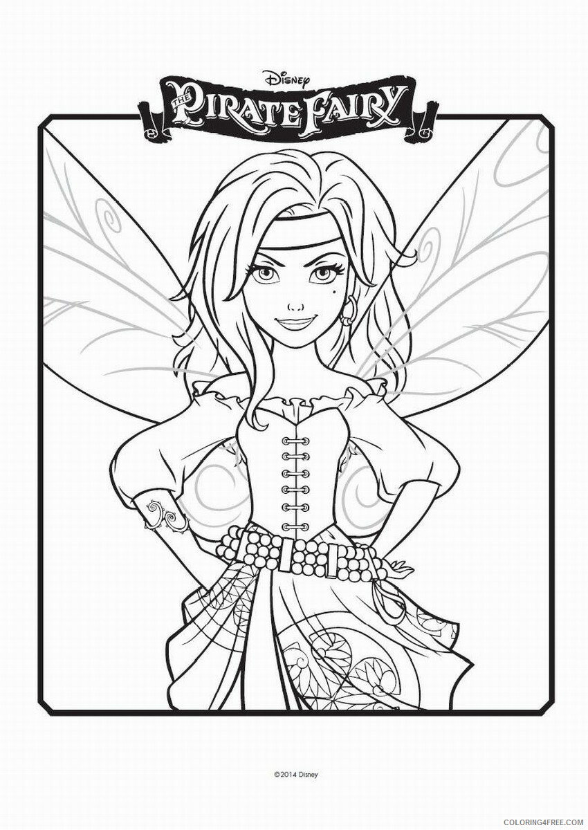 Fairy Coloring Pages the_pirate_fairy_coloring14 Printable 2021 2408 Coloring4free
