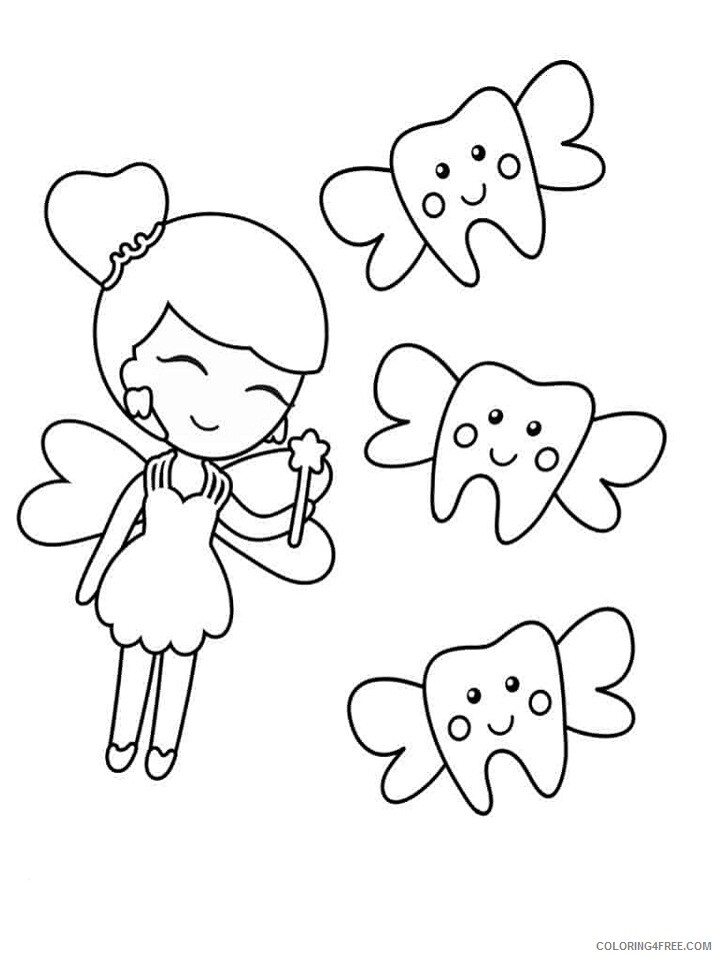 Fairy Coloring Pages tooth fairy 4 791x1024 Printable 2021 2302 Coloring4free