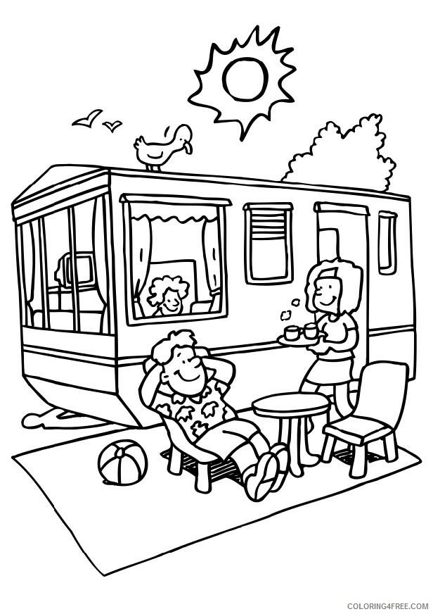 Family Coloring Pages Family Campground Printable 2021 2457 Coloring4free